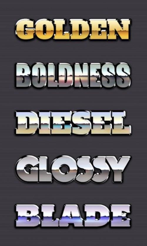 fuentes tipografias metalicas gratis photoshop