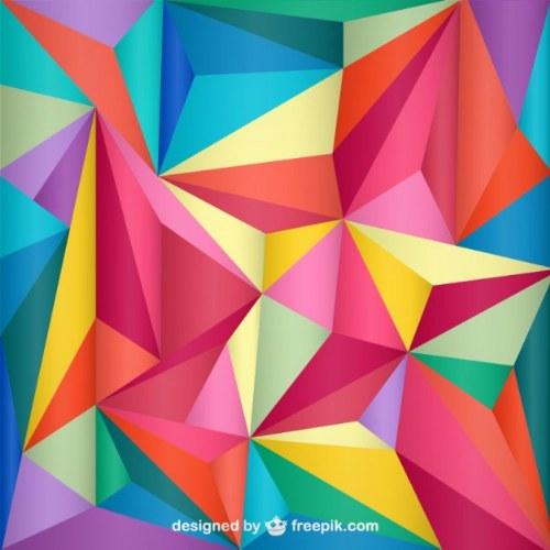 recursos photoshop poligonos abstractos