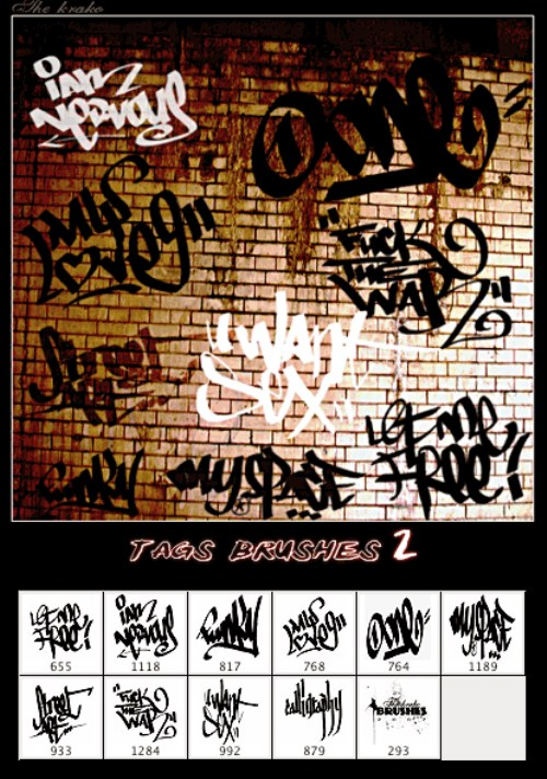 pinceles graffitis tags photoshop