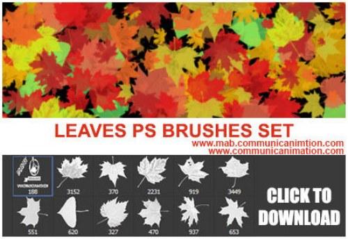pinceles hojas otoño photoshop
