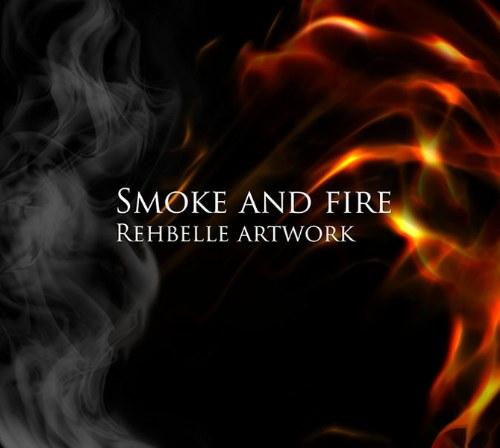 pinceles humo y fuego photoshop