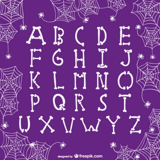 fuente vector halloween letras illustrator
