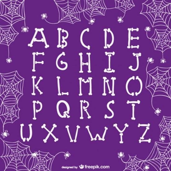 fuente vector halloween letras illustrator