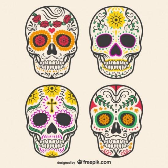 calaveras decoracion illustrator vector gratis