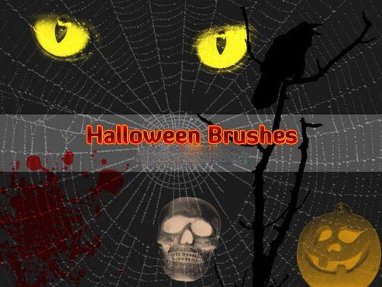 pinceles halloween