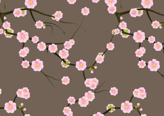 flores cerezo sakura patterns photoshop
