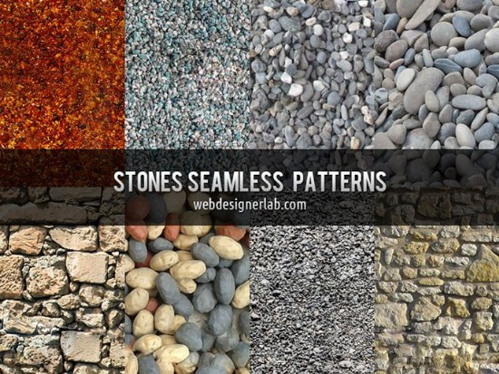 Pack de 8 Patterns de Piedras para Photoshop gratis