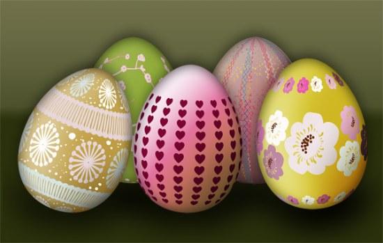 pinceles huevos pascua photoshop gratis